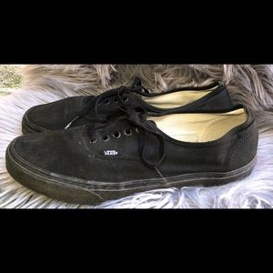 Men's black vans size 12
